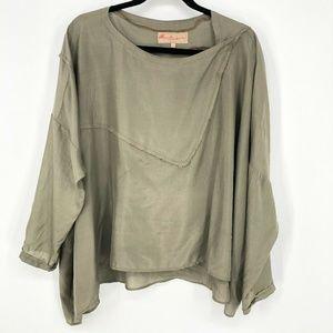 Manuelle Guibal Silk Long Sleeve Lagenlook Blouse